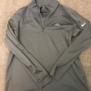 NIKE GOLF dri fit grey 1/4 zip up